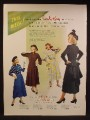 Magazine Ad For Carole King Junior Dresses, Women's Fashion, 1948