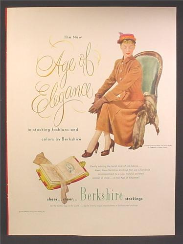 Magazine Ad For Berkshire Stockings, Age Of Elegance, 1948