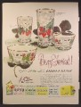 Magazine Ad For Libbey Glass, Glassware, Berry Festival Pattern, 1948
