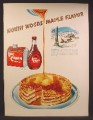 Magazine Ad For Log Cabin Maple Syrup, Red Cabin Tin, North Woods, 1949