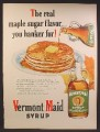 Magazine Ad For Vermont Maid Syrup, Maple Sugar Flavor You Hanker For, 1949