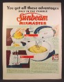 Magazine Ad For Sunbeam Automatic Electric Mixmaster, Built In Juicer, 1949