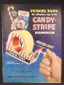 Magazine Ad For Texcel Cellophane Tape, Candy Stripe Dispenser, 1949