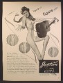 Magazine Ad For Jantzen Girdles & panty Girdles, Lingerie, Woman with Guitar, 1949