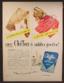 Magazine Ad For Chiffon Soap Flakes, Laundry Detergent, Milder Gentler, 1949