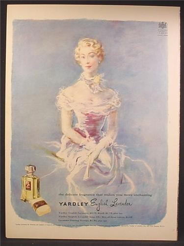 Magazine Ad For Yardley English Leather Delicate Fragrance, Perfume, For Women, 1949