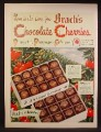 Magazine Ad For Brach's Chocolate Cherries Gift Box, 1949