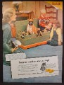 Magazine Ad For Kodak Camera & Film, Snapshots Remember, Boxer Dog with Puppies, 1951