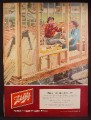 Magazine Ad For Schlitz Beer, Couple in Their Partially Framed House, Feels Like Home 1952
