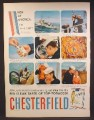 Magazine Ad For Chesterfield Cigarettes, Men Of America, On Sea Duty, 1958