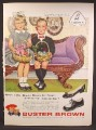 Magazine Ad For Buster Brown Children's Shoes, Girl & Boy In Sunday Best Easter Baskets, 1959