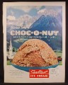 Magazine Ad For Sealtest Swiss Style Choc-O-Nut Flavor Ice Cream, Buttered Almonds, 1960