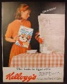 Magazine Ad For Kellogg's Frosted Flakes Cereal, Tony The Tiger Behind Newspaper, 1962