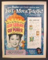 Magazine Ad For Friskies Car Food, Free Tickets To Judy Garland Movie Gay Purr-ee, 1962