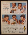 Magazine Ad For Planters Peanuts, Jerry Lewis, Nutty Professor, Celebrity Endorsement, 1963