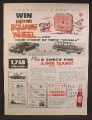 Magazine Ad For Dr Pepper Soft Drink, Contest for Corvette, 1963