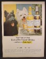 Magazine Ad For Black & White Scotch Whiskey, 2 Scottie Dogs, Scottish Terriers, 1964