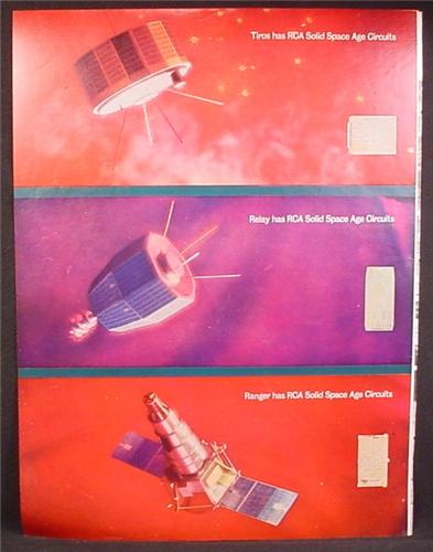Magazine Ad For RCA Circuits in 3 Satellites, Tros, Relay, Ranger, 1965