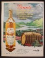 Magazine Ad For Grant's Scotch Whiskey, 3 Sided Bottle, Barrel, 1959