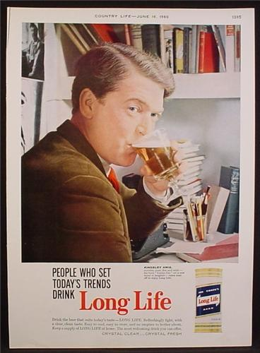 Magazine Ad For Long Life Beer, Can, People Who Set Today's Tends Drink Long Life, 1960