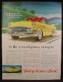 Magazine Ad For Buick Roadmaster Car, Yellow With Black Roof, Front & Side Views, 1955