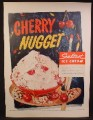 Magazine Ad For Sealtest Cherry Nugget Flavor Ice Cream, Bowl on Paint Pallet, 1955