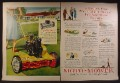 Magazine Ad For Moto-Mower Lawnmower, Magic Weed Topper, 1954, Double Page Ad