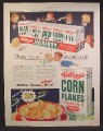 Magazine Ad For Kellogg's Cereal Variety Pack, 7 Cereals, Krumbles, Pep, Corn Flakes, 1948