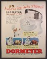 Magazine Ad For Dormeyer Mixer, 3 Models, Power-Chef, Ceramic Bowl, 1944