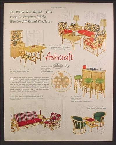 Magazine Ad For Ashcraft Bent Wood Furniture, By Heywood Wakefield, 1950