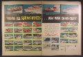 Magazine Ad For 1954 Chris Craft Boats, 33 Models Pictured, Wood Boat, 1954, Double Page Ad