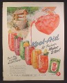 Magazine Ad For Kool-Aid, Kool Aid, 6 Glasses with Different Flavors, 5 Cents a Packet, 1953