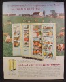 Magazine Ad For Kelvinator Double Door Refrigerator, Fridge, Foodarama, 1960