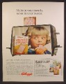 Magazine Ad For Kellogg's Frosted Pop-Tarts, Pop tarts, Reflection of Little Girl In Toaster, 1968
