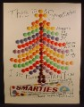 Magazine Ad For Smarties Milk Chocolate Beans, Giant Tube, Australian Ad, 1963