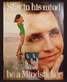 Magazine Ad For Tab Diet Soda, Woman in Bathing Suit, Stay in His Mind, Be a Mindsticker, 1969