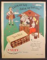 Magazine Ad For Caley Milk Chocolates, Dairy Maid & Yodeler, England, 1956
