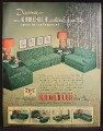 Magazine Ad For Kroehler Sectional Furniture, Green, Living Room, 1950