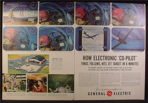 Magazine Ad For GE General Electric, Detection & Interception System for Military Jets, 1954