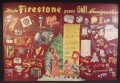Magazine Ad For Firestone Christmas Gift Headquarters, Illustrations of Lots of Products, 1946