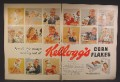 Magazine Ad For Kellogg's Corn Flakes Cereal, People With Empty Boxes, Always Running Out, 1955