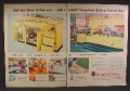 Magazine Ad For Youngstown Steel Kitchens, Yellow Blue Orange, Counters, Cabinets, 1955
