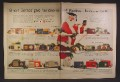 Magazine Ad For GE General Electric Radios, 19 Different Models Shown, 1955, Double Page Ad