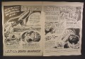 Magazine Ad For Borg Warner Ripley's Believe It Or Not, Flying Torpedo, 1955, Double Page Ad