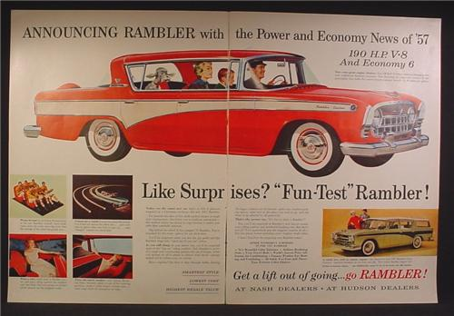 Magazine Ad For 1957 Nash Rambler Special Car, Rambler Cross Country Station Wagon, 1956