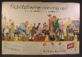 Magazine Ad For Schlitz Beer, Bowling Night, Schlitzframe, Be A Schlitzer, 1957, Double Page Ad