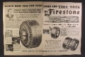 Magazine Ad For Firestone Tires, Keep Your Car Tire Safe, Dealer Service Center 1951 Double Page Ad