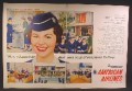 Magazine Ad For American Airlines, Stewardess College, Uniforms, Housing, 1958, Double Page Ad