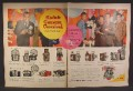 Magazine Ad For Kodak Camera Carnival, Ed Sullivan, Celebrity Endorsement, 1958, Double Page Ad