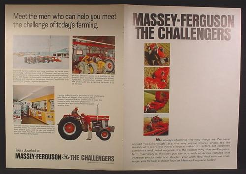 Magazine Ad For Massey Ferguson Farm Equipment, Tractor, 1968, 4 Page Ad